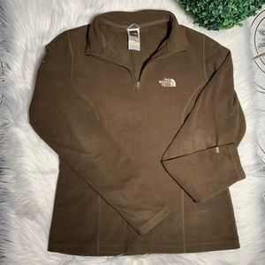 The north face dark brown TKA 100 fleece size S